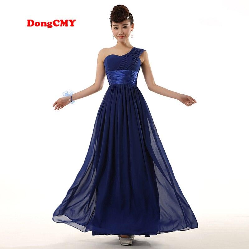 DongCMY WL1211 2018 New Fashion Long Design Sister Bridal Married Formal Bridesmaid Dress Gown Chiffon Beach Vestido De Festa