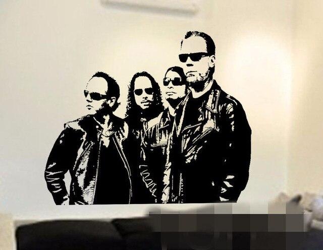 Gratis pengiriman stiker dinding amerika logam berat band metallica vinyl decals musik poster art decor kamar