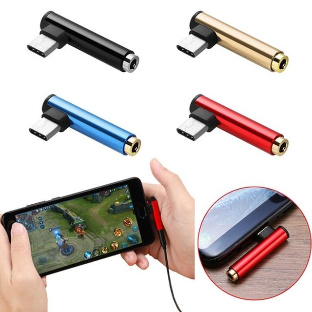 1Pcs Mini & Slim USB Type C To Headphone Jack Adapter Cable For Xiaomi Huawei Headset Splitter