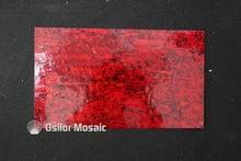 Dyed bright red color mother of pearl shell laminate for musical instrument and furniture inlay