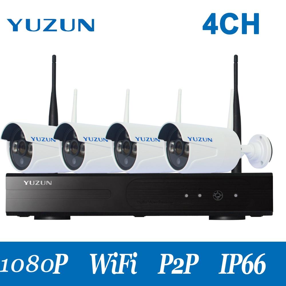 CCTV համակարգ 1080P 4CH HD անլար CCTV - Անվտանգություն և պաշտպանություն