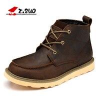 Z. Suo мужские ботинки, кожаные ботинки мужские qiu dong сезон, цилиндр в досуге модные мужские ботинки