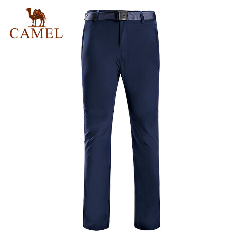 2018 Camel Outdoor Quicking Drying Lover's Trousers Thin Super lightweight Men's Hiking Climbing Pants A7S218111