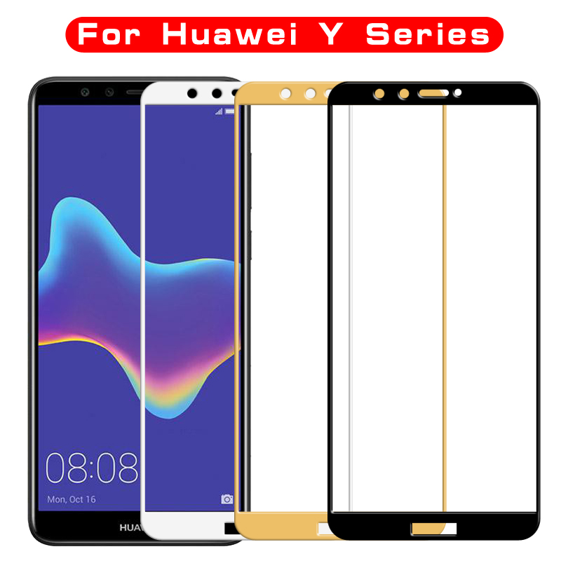 For <font><b>huawei</b></font> y6 y7 y9 <font><b>2018</b></font> <font><b>Tempered</b></font> <font><b>glass</b></font> For <font><b>Huawei</b></font> Y7 Y6 Y5 <font><b>prime</b></font> pro y3 <font><b>y</b></font> 5 <font><b>6</b></font> 7 9 3 2017 y3 <font><b>2018</b></font> Screen Protector Film Case image
