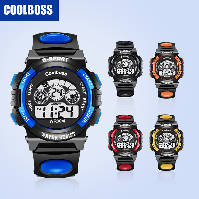 Fashion Children Watches LED Digital For Boys And Girl Multifunctional