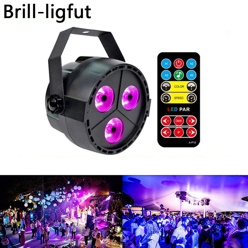 12W UV LED Stage Light Sound Active 3 LEDs Auto DMX Ultraviolet Strobe Par Black Lights For Disco DJ Projector Party Lights12W UV LED Stage Light Sound Active 3 LEDs Auto DMX Ultraviolet Strobe Par Black Lights For Disco DJ Projector Party Lights