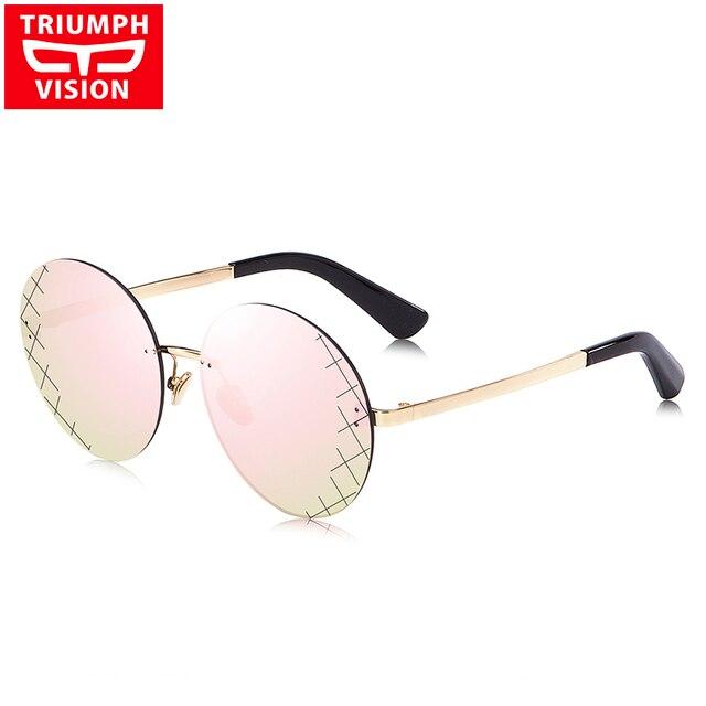 8b1711fcf4511e TRIUMPH VISION Rose Miroir Soleil lunettes Sans Monture Femmes lunettes de  Soleil Rondes Pour Les Femmes