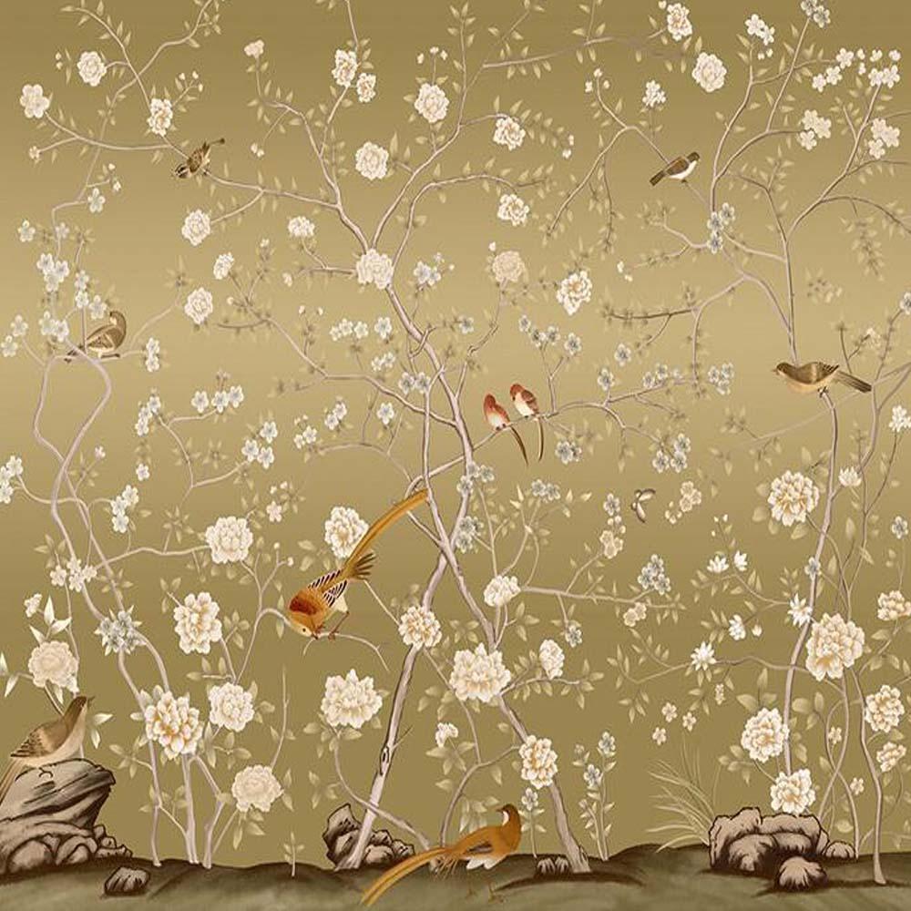 Yellow Flower Photo Wallpapers Murals Living Room Bedroom Wall Art ...