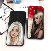 2019 New Nice girls For Case Oneplus 6T Pretty shiny girl Black Cover for Funda 7 Phone Cases 1+6T Capa