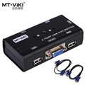 MT-VIKI 2 Port USB KVM SWITCH VGA Manual do Interruptor Botão Orginal cabos 2 PC Compartilhe 1 Monitor com Teclado e Mouse MT-260KL