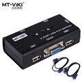 MT-VIKI VGA de 2 Puertos USB KVM SWITCH Manual Interruptor de Botón Original Cables 2 UNID MT-260KL Compartir 1 Monitor con Teclado y Ratón