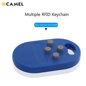 Image 1 - RFID Mehrere Keyfob 4 oder 5 in 125khz T5577 EM Beschreibbar IC 13,56 Mhz M1k S50 UID veränderbar CUID komplexe Keychain Tag