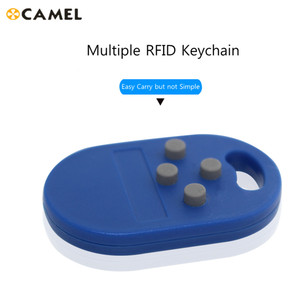 RFID Multiple Keyfob 4 or 5 in 125khz T5577 EM Writable IC 13.56Mhz M1k S50 UID changeable CUID Complex Keychain Tag(China)