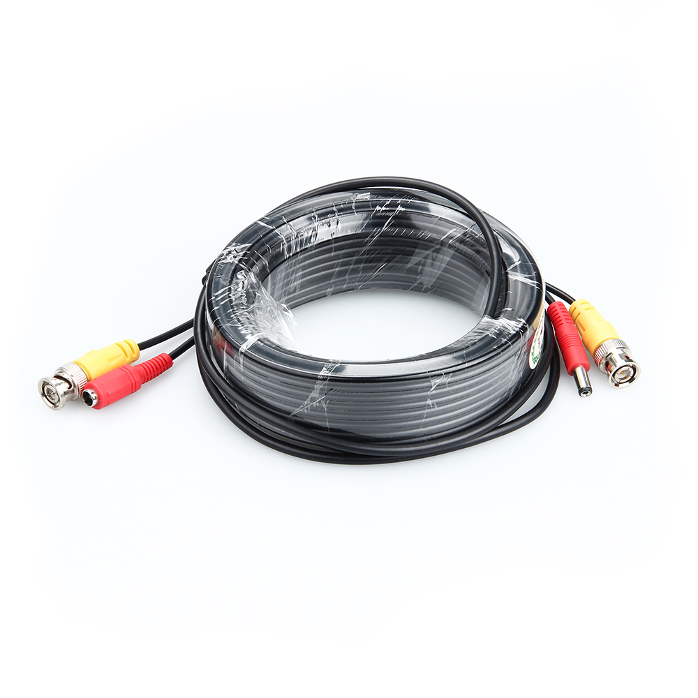 BNC DC Plug Cable 3M/5M/10M/15M/20M/30M CCTV Camera Video Output Cable For AHD TVI CVI Analog System DVR Kit Accessories
