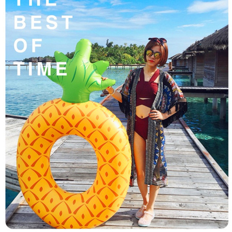 Inflatable Ring Pineapple Inflatable Swim Ring Adult Float Toys Inflatables Ring for Pool Women Floating Water Pool