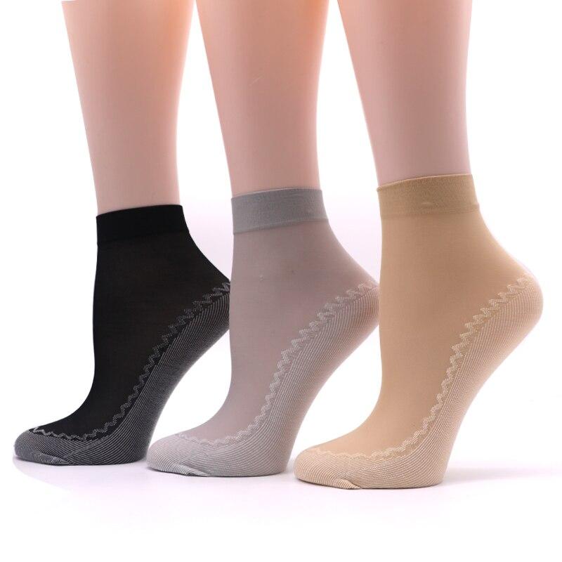 5pair Breathable Summer Woman   Socks   Women Female Anke   Sock   Solid Color Casual Meias Ladies   Socks   Short Transparent   Socks