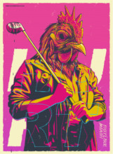 Wall Decor Hotline Miami Art Silk Poster 28*20 cm Vintage Action Game Pictures For Room