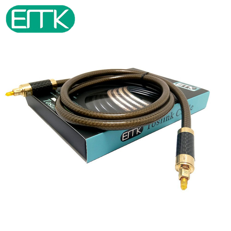 EMK 1m/2m/3m Aristocratic series Digital Optical Audio Cable Fiber Optic Cable Toslink Male to Toslink Male Audio Fiber Cable premium digital optical fiber optic toslink audio cable 2m length