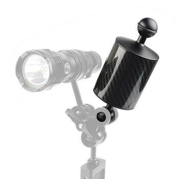 Garmin Gopro Mount | 5-8-10pouces 80mm Fibre De Carbone étanche Flottabilité Flottante Supports Support Supports Avec Adaptateur à Tête Sphérique Pour La Photoggraphie De Plongée