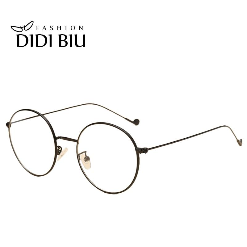 ZuverläSsig Didi Vintage Runde Klar Brillen Frauen Männer Marke Designer Super Licht Gläser 7 Farbe Dünne Legierung Rahmen Korea Brillen W785 Herren-brillen
