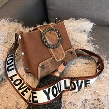 цены Retro PU Scrub women's Bag Lady Messenger Bag Wild Trend Messenger Bag Shoulder Bag Europe and America Handbag women's bag's Hot