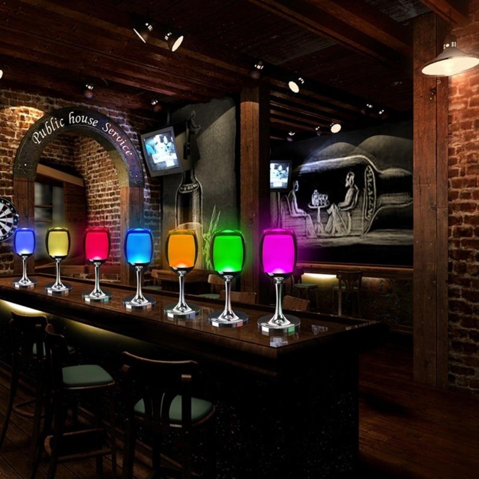 Vinkoppladdningslampa LED-nattlampa 3W USB-laddning Justera - Festlig belysning - Foto 5