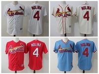 MLB Men S St Louis Cardinals 4 Yadier MOLINA Player Edition Jersey Baseball Jersey MLB Jersey
