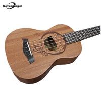 SevenAngel Marca venda Quente Dos Desenhos Animados Padrão Havaiano Ukulele 4 cordas Guitarra cordas AQUILA Ukelele Doraemon Melhor Presente Da Música