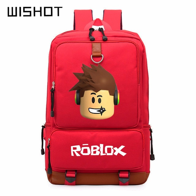 Wishot Roblox Game Casual Backpack For Teenagers Kids Boys