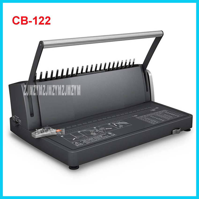 CB-122 Comb Binding Machine CB-122 Manual A4 Binds 450 <font><b>Sheets</b></font> Punches 12 <font><b>Sheets</b></font> / 2 <font><b>sheets</b></font> <font><b>PVC</b></font> cover Office Comb-type punching image