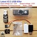 Último actualizado usb asesino v2.5 u disco asesino asesino miniatura generador de impulsos de alta tensión usb accesorios completos