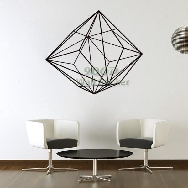 Buy Vinyl Art Wall Sticker Diamond Pattern Wall Decal Diy Home Decoration Wall