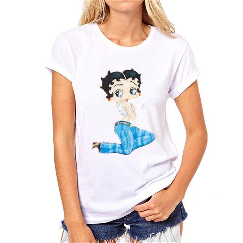 Mädchen weißes T-shirt Marke Neue Frauen T-shirt Tattoo Vogue - Damenbekleidung - Foto 2