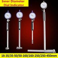 Dial furo calibre diâmetro do furo dentro diâmetro escala cilindro medidor de volume dial indicador micrômetro 10-18-35-50-160mm