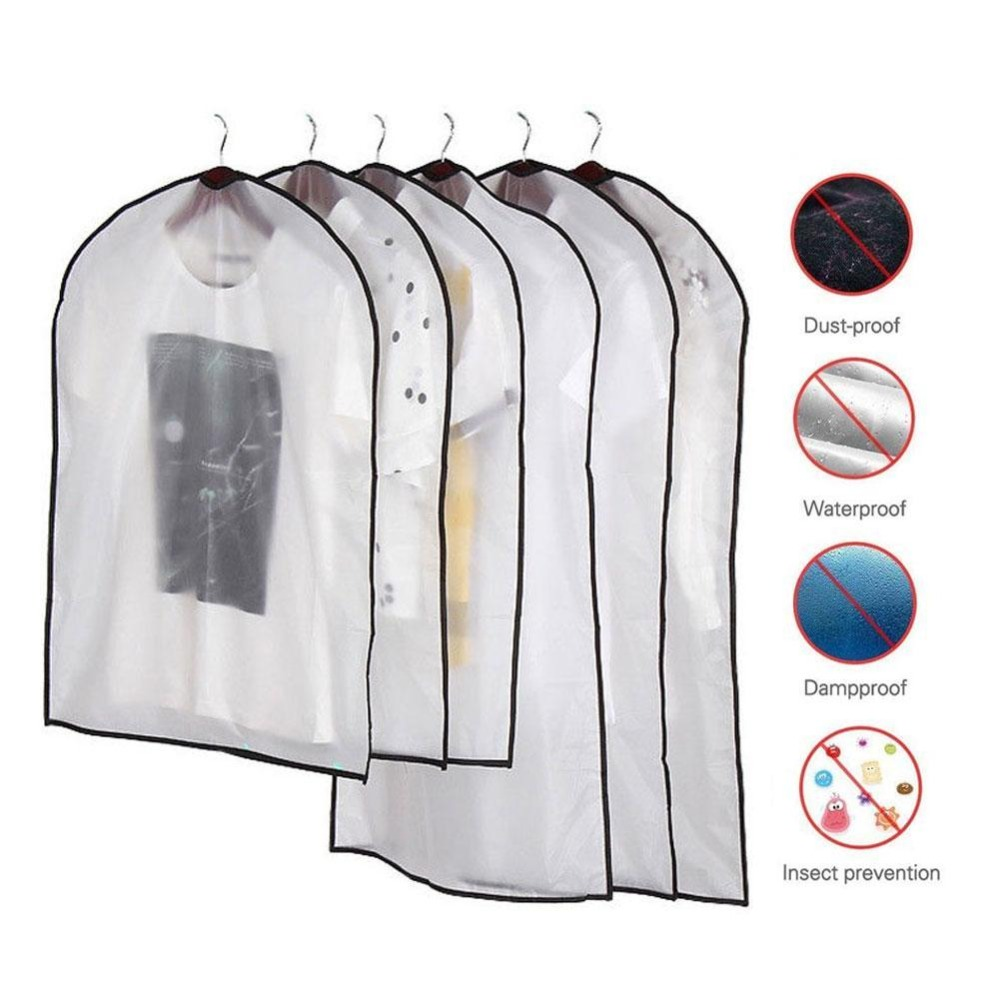 1 Pc Clothing Covers Clear Suit Bag Moth Proof Garment Bags Breathable Zipper Dust Cover Storage Bags For Suit Dance Clothes