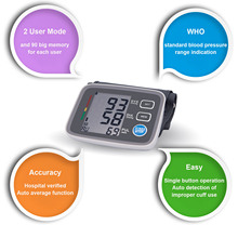 Home BP Machine Home  Digital Upper Arm Blood Pressure Monitor Large Cuff Heart Beat Meter Sphygmomanometer