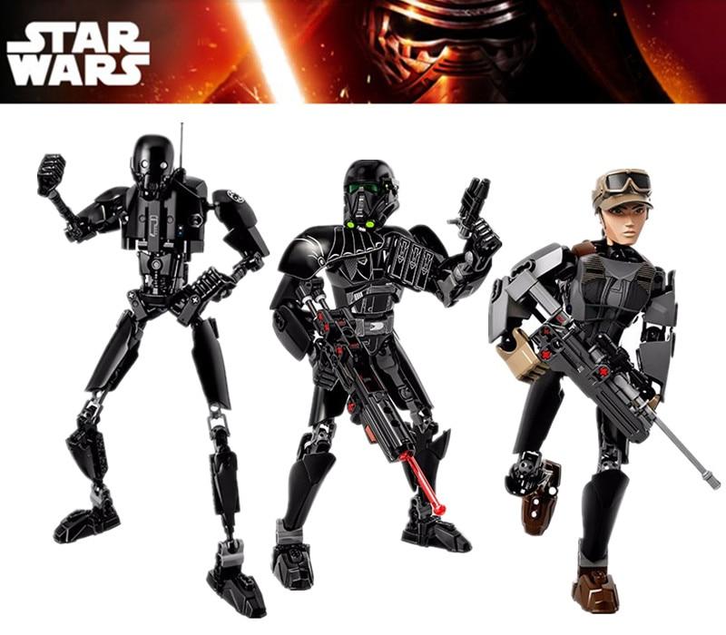 ZXS <font><b>star</b></font> <font><b>war</b></font> Figures <font><b>Rogue</b></font> <font><b>One</b></font> K-2SO Death Trooper <font><b>Sergeant</b></font> <font><b>Jyn</b></font> <font><b>Erso</b></font> Figure toys building blocks christmas new year gifts
