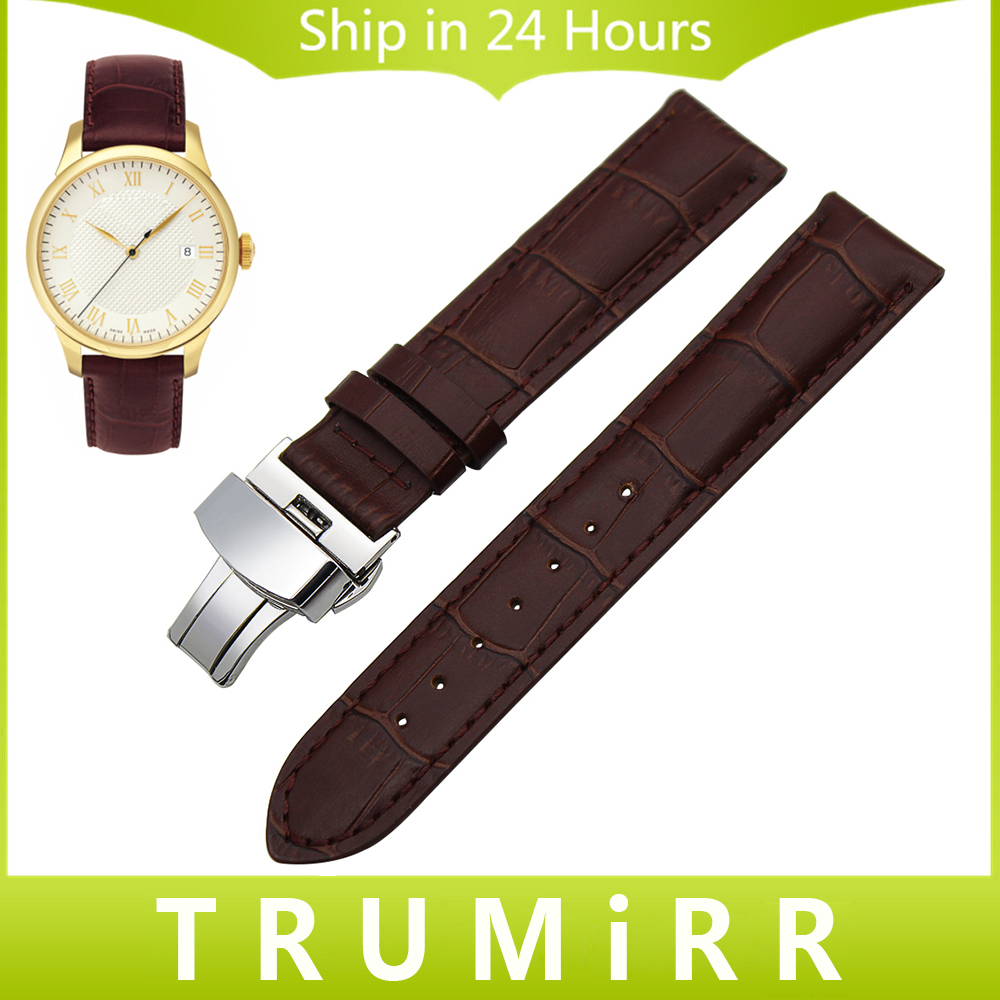 19mm 20mm Genuine Leather Watchband for Tissot PRC200 T17 T41 T461 T014 T049 T067 T095 Watch
