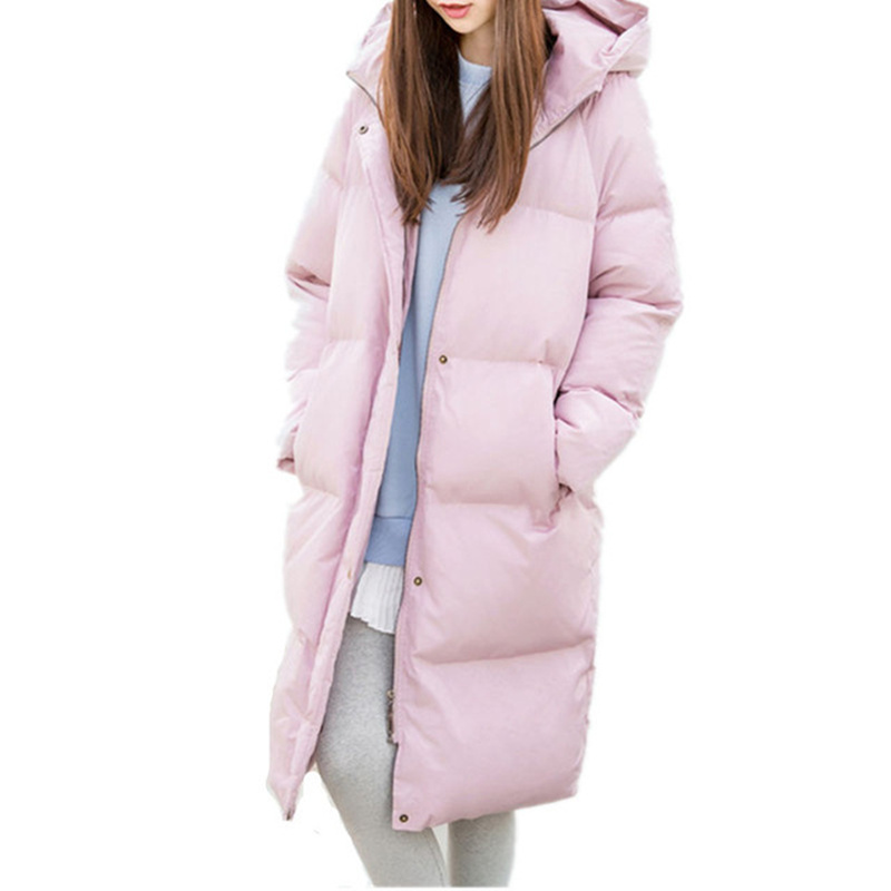 Winter Jacket Women Thicken Bread Maxi Coat Hooded Womens Winter Jackets And Coats Warm Parka Oversized Coats Long Jacket C2732 olgitum new autumn winter jacket coat women parka woman clothes solid long jacket slim women s winter jackets and coats cc107