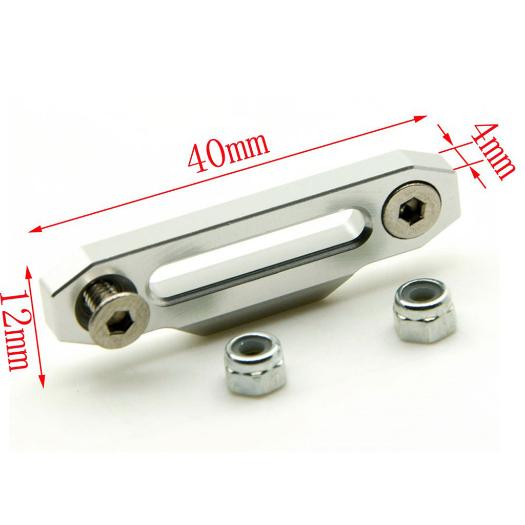 Image 5 - Alloy Metal Hawse Fairlead Winch Control Mount For RC 4WD D90 1/10 RC Crawler practical and convenient Remote control toy parts-in Parts & Accessories from Toys & Hobbies