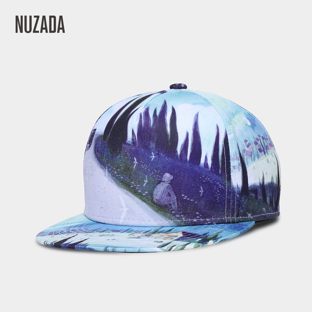 best website b9f17 8a856 Brand NUZADA Abstract Art Men Women Baseball Cap 3D Printing Caps Spring  Summer Hats Bone Quality Cotton Adjustable Snapback