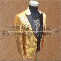 M 3xl Men's New Nightclub Sequined Blazers Jacket Stage Costumes Suit Singer Performance Clothing Formal Dress