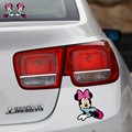 2 x Cute Cartoon Mickey Mouse car stickers personalized Decal cover scratches Creative For Ford Focus 2 BMW Audi Peugeot 307