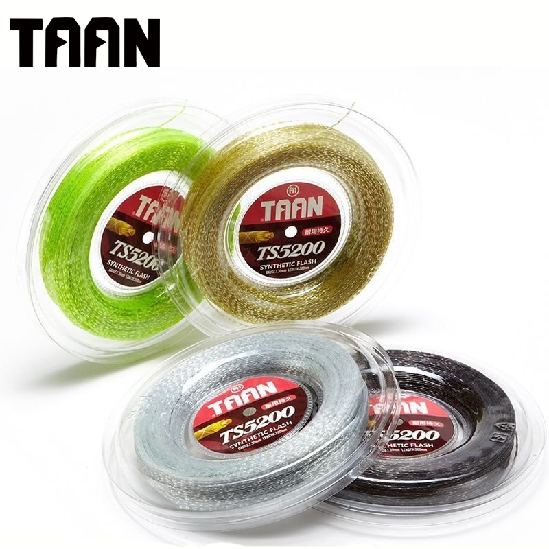 TAAN  5200 1.30mm Tennis String Soft Synthetic Flash Tennis Racket Training String High Flexibility Comfortable 200m TS5200