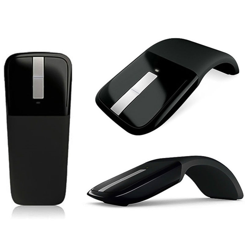 2 4Ghz Foldable Wireless Mouse Folding Arc Touch Mouse Mause Computer Gaming Mouse Mice for Microsoft