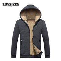 Winter Warm Fleece Hoodies Men Winter Fashion Brand Casual Sweatshirt Men 2017 New Mens Hooded Jackets