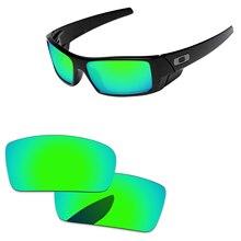 Изумрудно-зеленые зеркальные поляризованные Сменные линзы для Gascan Small не для Gascan, солнцезащитные очки в оправе UVA и UVB Защита