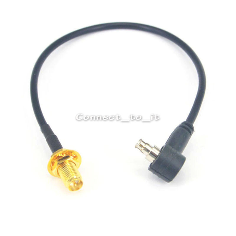 Buy 100 Pcs 3G USB Modem RP SMA Female to CRC9/TS9 male Rightangle Connector RF Coax Adapter Extension Cable 20CM RG174 for only 227.79 USD