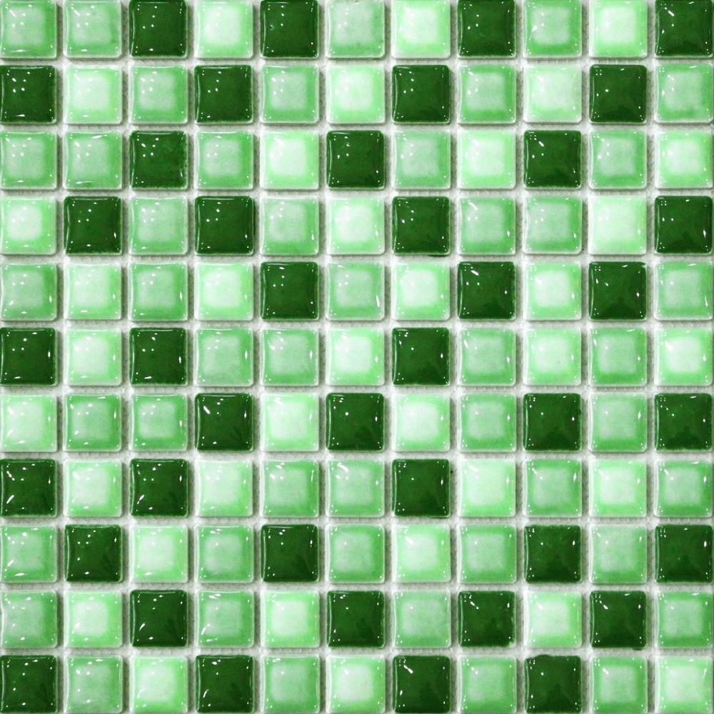 green convex ceramic mosaic <font><b>tile</b></font> kitchen backsplash <font><b>tile</b></font> bathroom wall paper shower hallway fireplace border <font><b>tile</b></font> country <font><b>style</b></font>