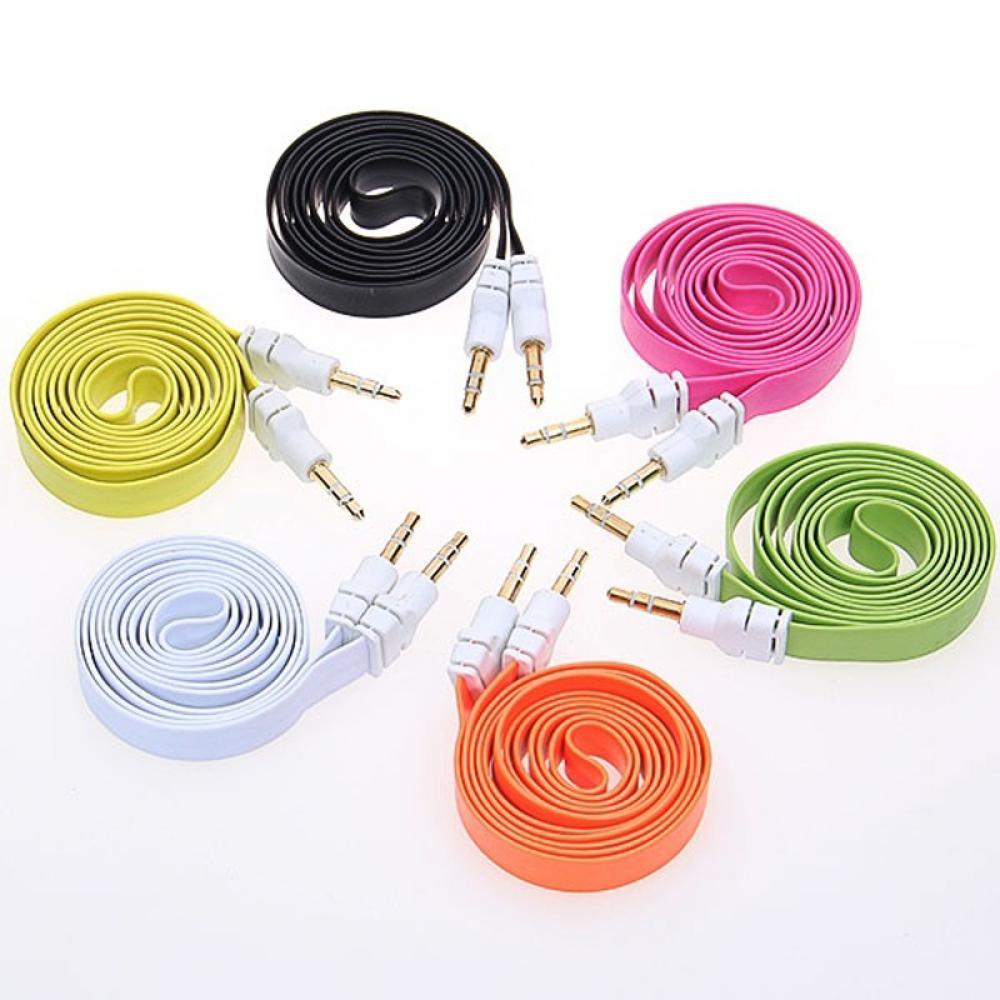 Unterhaltungselektronik Gehorsam Heißer Verkauf 1 Stück 3,5mm Stereo Hilfs Kabel Stecker-stecker Flachen Audio Musik Aux Cord Mini Hohe Qualität